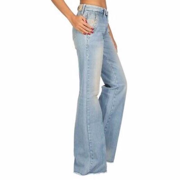 Diesel Denim - Diesel Flairlegg Pinstripe Trouser Jeans 25x32